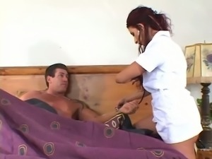 This sex crazed nurse wants to give her patient an out of body experience