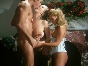 Insatiable and hot French FFM threesome with sexy girls