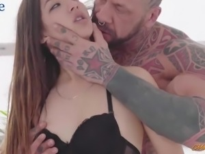 Not greedy Angie White shares her BF's dick with awesome sweetheart