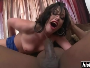 Horny Jennifer can not have enough of his big black cock inside of her
