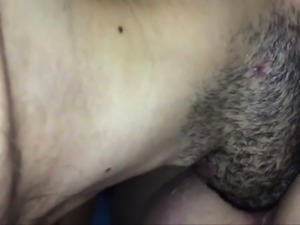 Close up hairy housewife