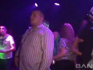 This nasty hoe in tight pink dress knows how to dance at the party