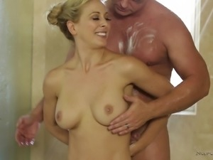 Soapy sexy bath with Cherie DeVille and her guy Eric Masterson