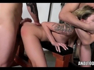 Ultra Rare Anal DP Teen Slut Gets Dominated