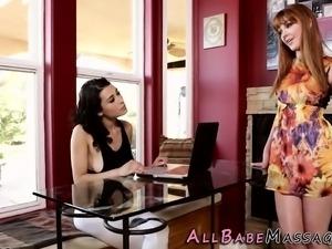 Shaved massaged lesbian