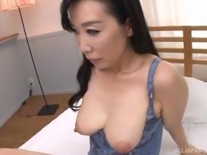 Japanese sex machine Gotou Chika having her beaver sucked and boned