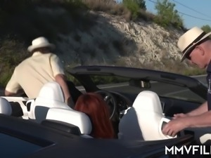 Redhead Linda Sweet gets picked up and properly fucked in the villa