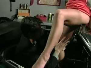 Curvy dame moaning as her pussy is licked before riding huge dick hardcore in...