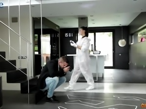Detective Susy Gala gets fucked by her colleague right at work