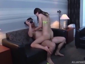 busty japanese slut has her tight hairy snatch penetrated