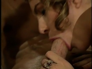 Sexy Anna Malle pounded hardcore till the guy cums on her tits in ffm porn