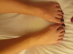 Thick loads on my wife's feet