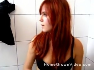 Redhead amateur girl is in need of a fellow's hard tool