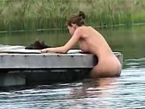 Stunning Babe Luba Shumeyko Posing Naked Outdoors
