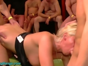 Beautiful blonde German babe banged hard and jizzed with cum
