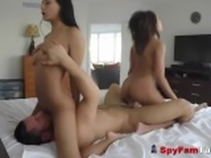 Hot Latina Stepsis Chloe Amour Fucks Her Bro In Steamy FFM Threesome