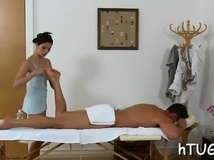Giving him a great massage