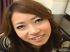 Japanese amateur babe bends over for a hot fucking session