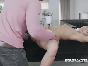Pallid girl Anita Bellini sucks limp black cock till it gets hard for mish