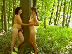 Two Women Standing to Masturbate WF