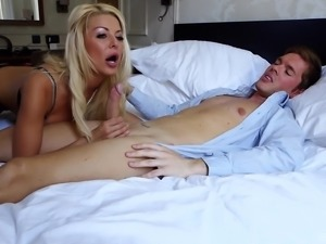 Tia Layne is a hot babe with big tits in need of a hard prick