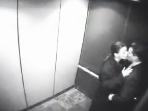 Couple gets kinky in the elevator