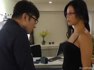 Beautiful Japanese secretary Katase Hitomi has a class and gets fucked hard