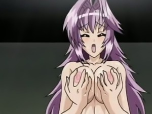 Some good hentai fuck with a purple haired big breasted nympho