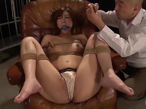 Lovely slave Ichika Kamihata's cunt ravished with various toys