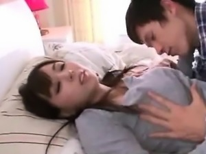 Busty asian babe gets groped by her lover