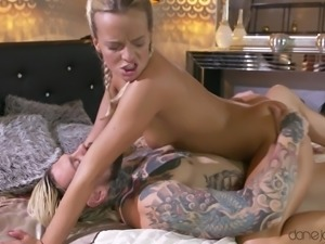 She is so amazed by the size of this hunk's big cock. She sucks him off, but...