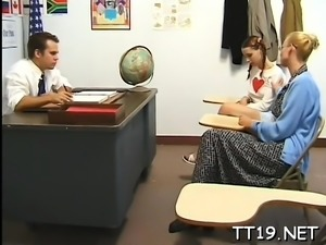 Schoolgirl gives oral-stimulation and gets fucked hard