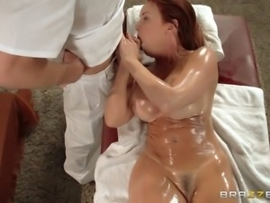 janet mason sucks his shlong as she lays on her back