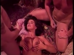 Curly haired vintage slut is good cock sucker and darn nice cock rider