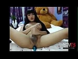 Cute asian tgirl jerks and cums online - DickGirls.xyz