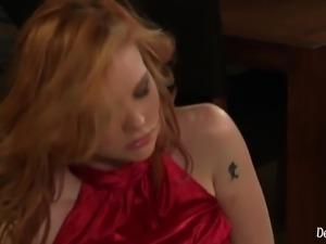 Wild Redhead Tarra White Dominating Her Slave Boyfriend