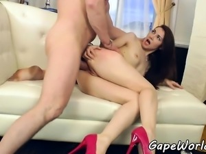 Highheeled vixen assfucking and deepthroating
