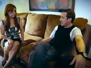 Dude ties up Penny Pax and makes her watch how he bangs her girlfriend