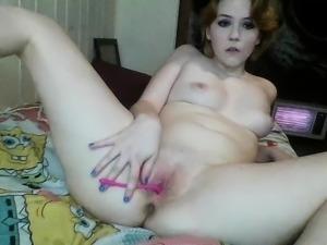 Sexy Cora Masturbate Blowjob