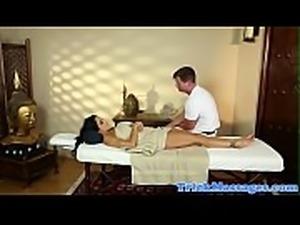 Gorgeous massage milf deepthroats hard cock