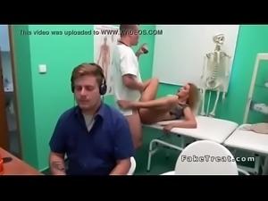 Blonde masturbates cheating sex in doctors bathroom   hard sex with doctor  