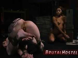 Extreme deep throat bdsm sexual subordination and aggressive