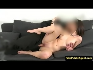 Classy euro babe drilled at casting audition