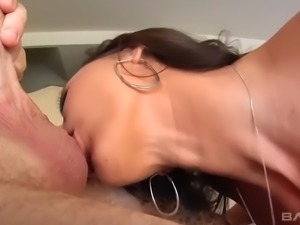 kaylynn's cock sucking and balls licking skills make a guy cum two tomes...