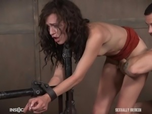 Can this Slave possibly withstand the hard fucking the master will give to...