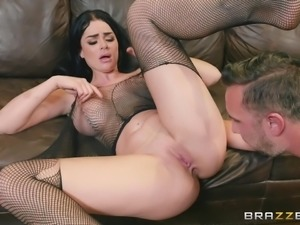 She is such a naughty babe. She likes to get fucked in the ass and then suck...
