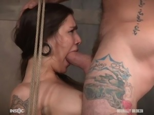This slave will be sexually broken and the master uses her mouth to get...