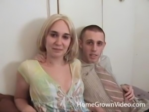 Cute blonde spreads her legs for an insatiable fellow