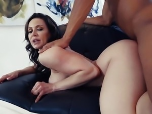 Kendra Lust rides a huge black cock