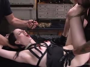 He will show her the true power of a mind blowing orgasm. His cock enters her...